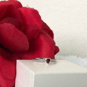 Pandora One Love Red Heart Ring